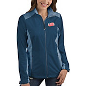Antigua Women's New England Revolution Revolve Navy Full-Zip Jacket