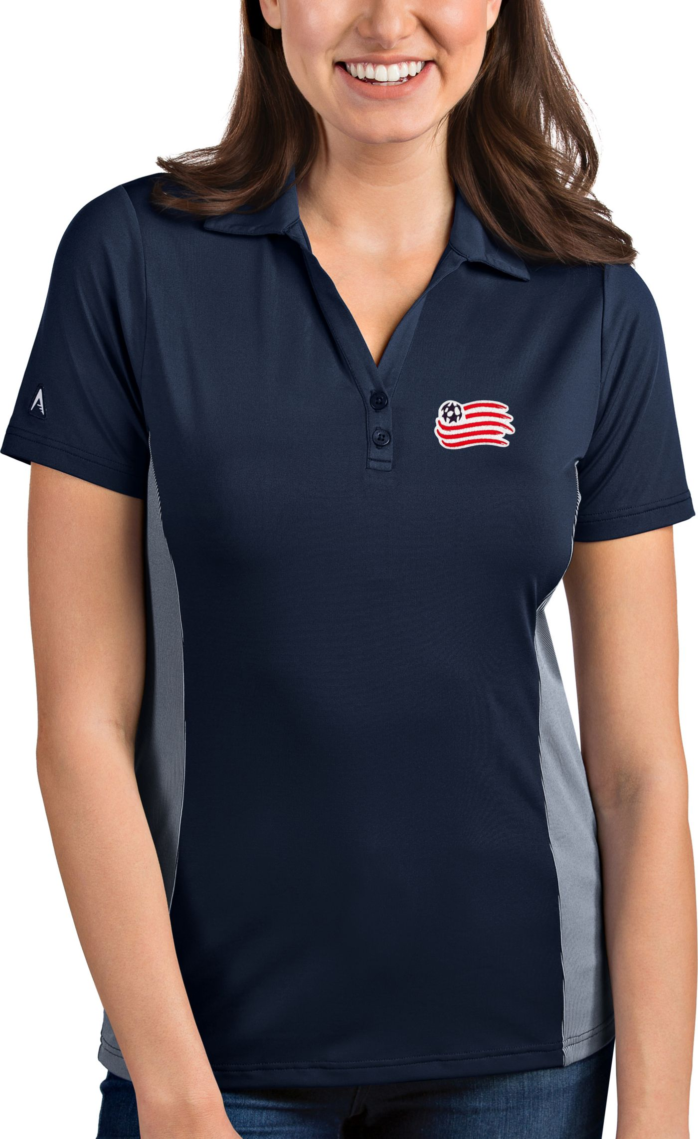 Antigua Women's New England Revolution Venture Navy Polo