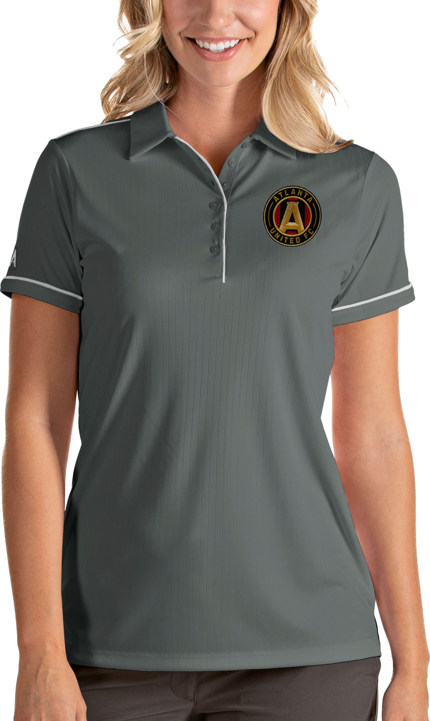 Antigua Women's Atlanta United Salute Grey Polo