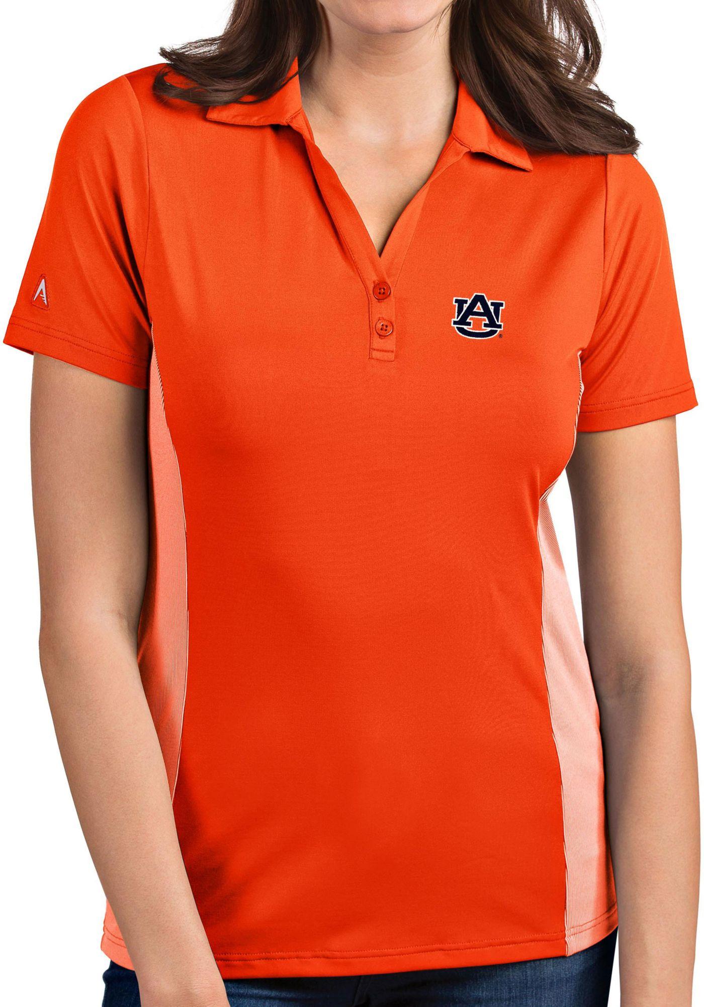 Antigua Women's Auburn Tigers Orange Venture Polo