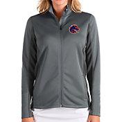 Antigua Women's Boise State Broncos Grey Passage Full-Zip Jacket
