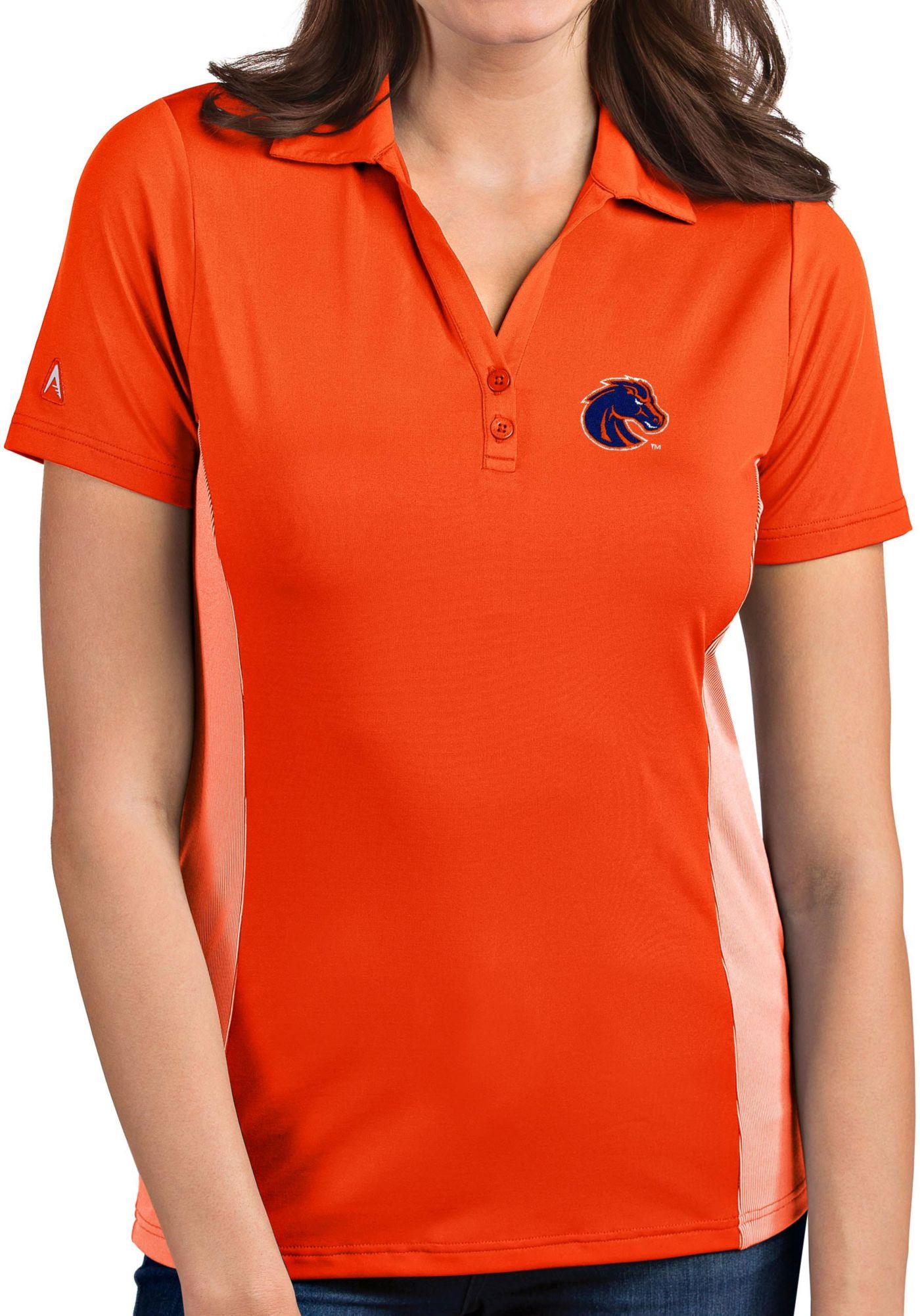 Antigua Women's Boise State Broncos Orange Venture Polo