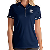 Antigua Women's Butler Bulldogs Blue Salute Performance Polo