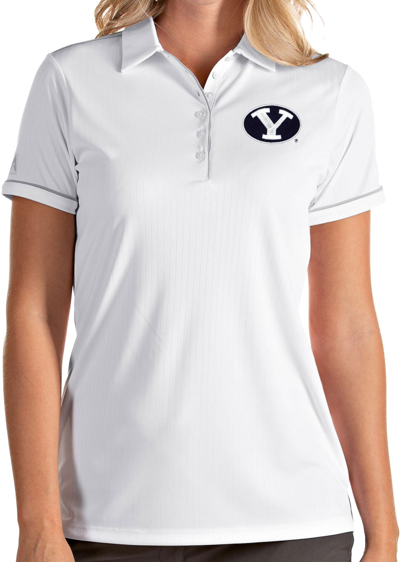 Antigua Women's BYU Cougars Salute Performance White Polo