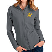 Antigua Women's Cal Golden Bears Grey Glacier Full-Zip Jacket
