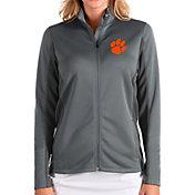 Antigua Women's Clemson Tigers Grey Passage Full-Zip Jacket