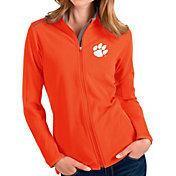 Antigua Women's Clemson Tigers Orange Glacier Full-Zip Jacket
