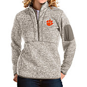Antigua Women's Clemson Tigers Oatmeal Fortune Pullover Jacket
