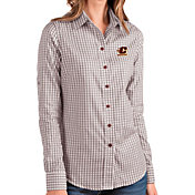 Antigua Women's Central Michigan Chippewas Maroon Structure Button Down Long Sleeve Shirt