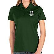 Antigua Women's Colorado State Rams Green Balance Polo