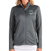 Antigua Women's Colorado State Rams Grey Passage Full-Zip Jacket