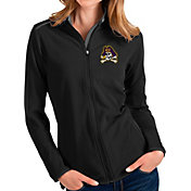 Antigua Women's East Carolina Pirates Glacier Full-Zip Black Jacket