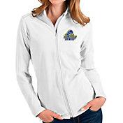 Antigua Women's Delaware Fightin' Blue Hens Glacier Full-Zip White Jacket