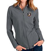 Antigua Women's Florida State Seminoles Grey Glacier Full-Zip Jacket