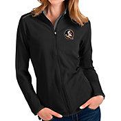 Antigua Women's Florida State Seminoles Glacier Full-Zip Black Jacket
