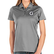 Antigua Women's Georgetown Hoyas Grey Balance Polo