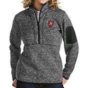 Antigua Women's Harvard Crimson Grey Fortune Pullover Jacket