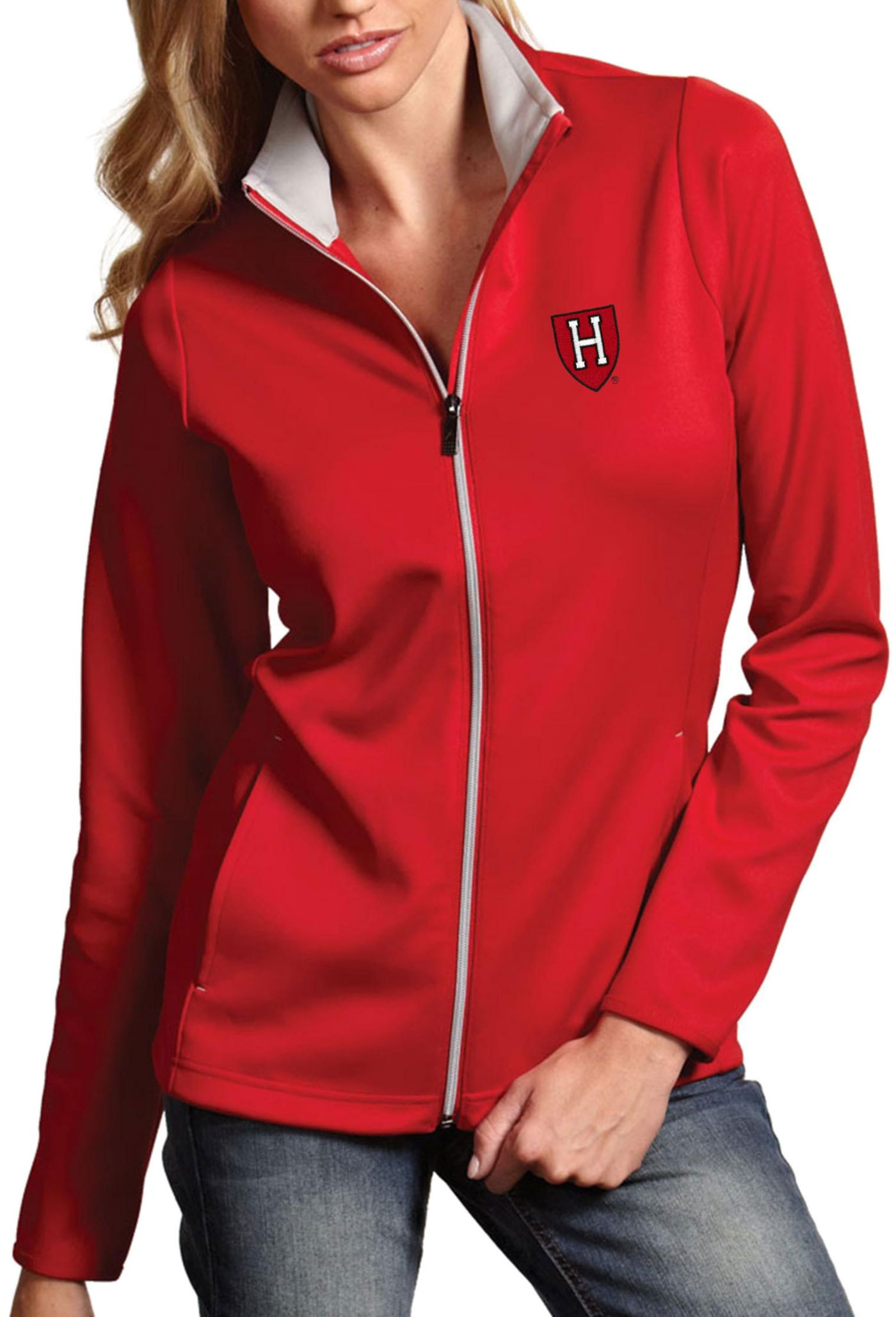 Antigua Women's Harvard Crimson Crimson Leader Full-Zip Jacket