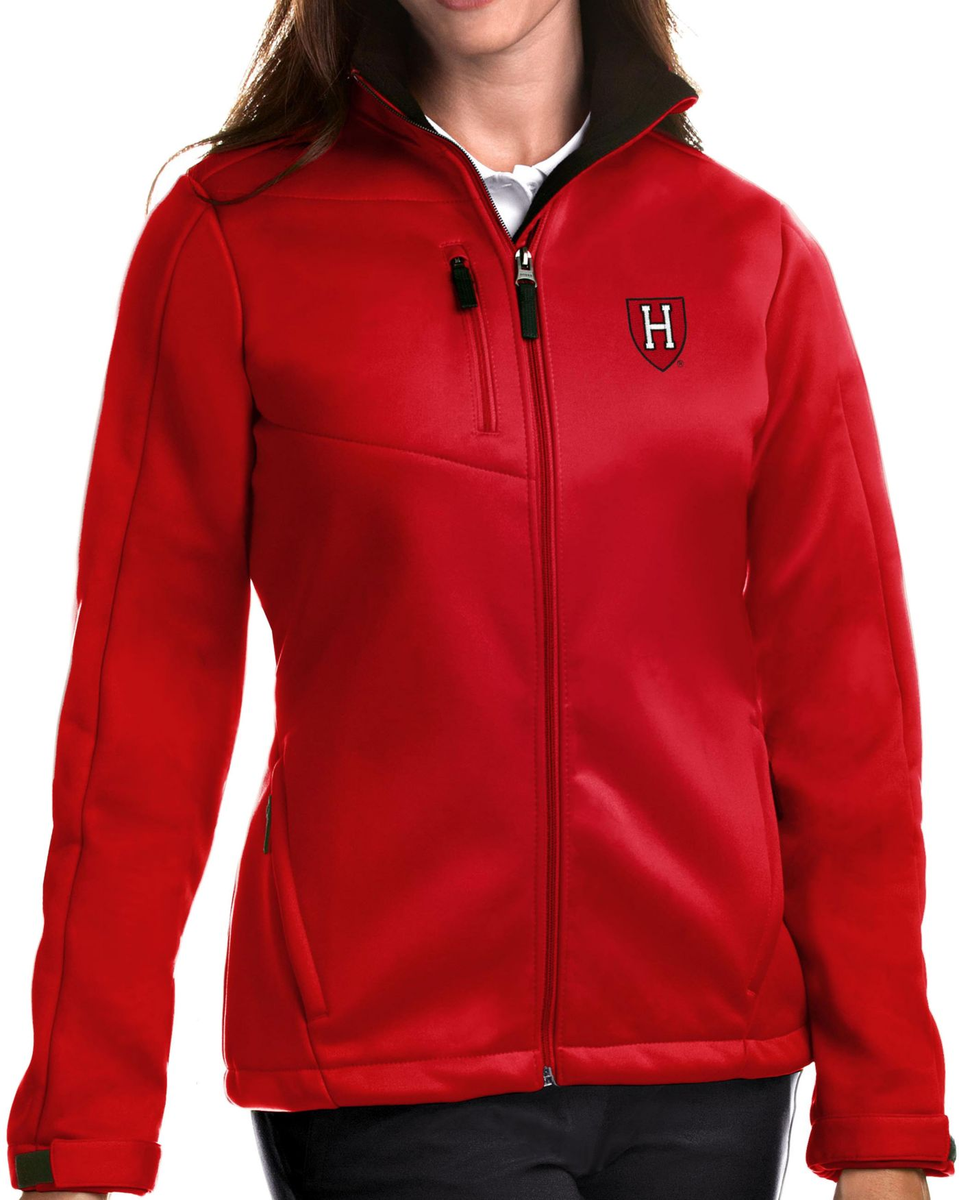 Antigua Women's Harvard Crimson Crimson Traverse Full-Zip Jacket