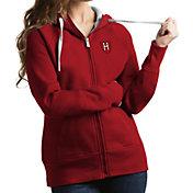 Antigua Women's Harvard Crimson Crimson Victory Pullover Hoodie