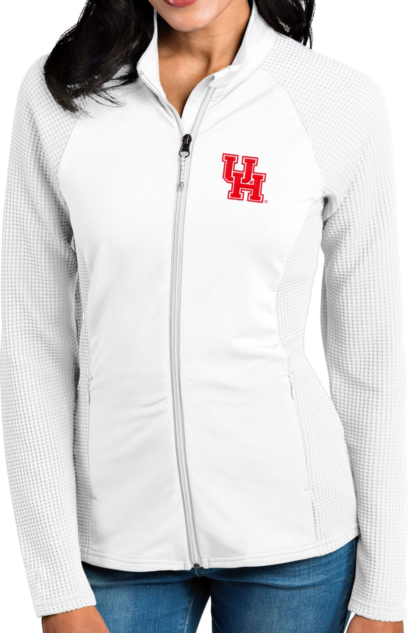 Antigua Women's Houston Cougars White Sonar Full-Zip Performance Jacket