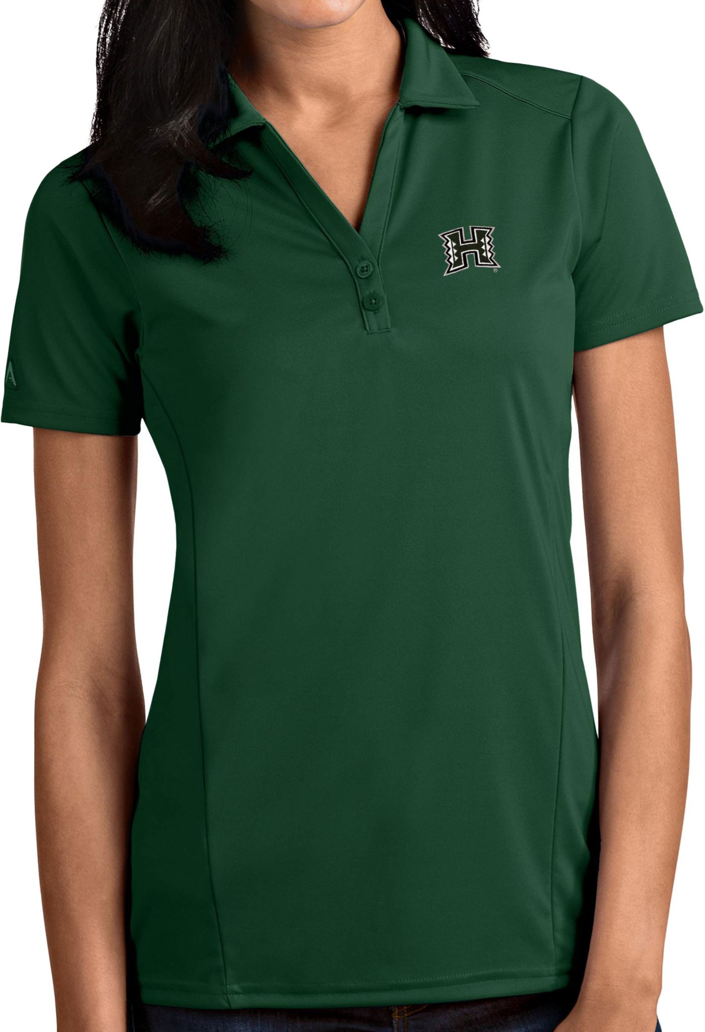 Antigua Women's Hawai'i Warriors Green Tribute Performance Polo