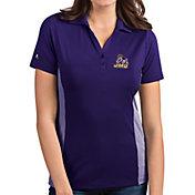 Antigua Women's James Madison Dukes Purple Venture Polo