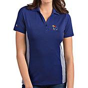 Antigua Women's Kansas Jayhawks Blue Venture Polo