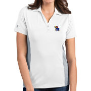 Antigua Women's Kansas Jayhawks Venture White Polo