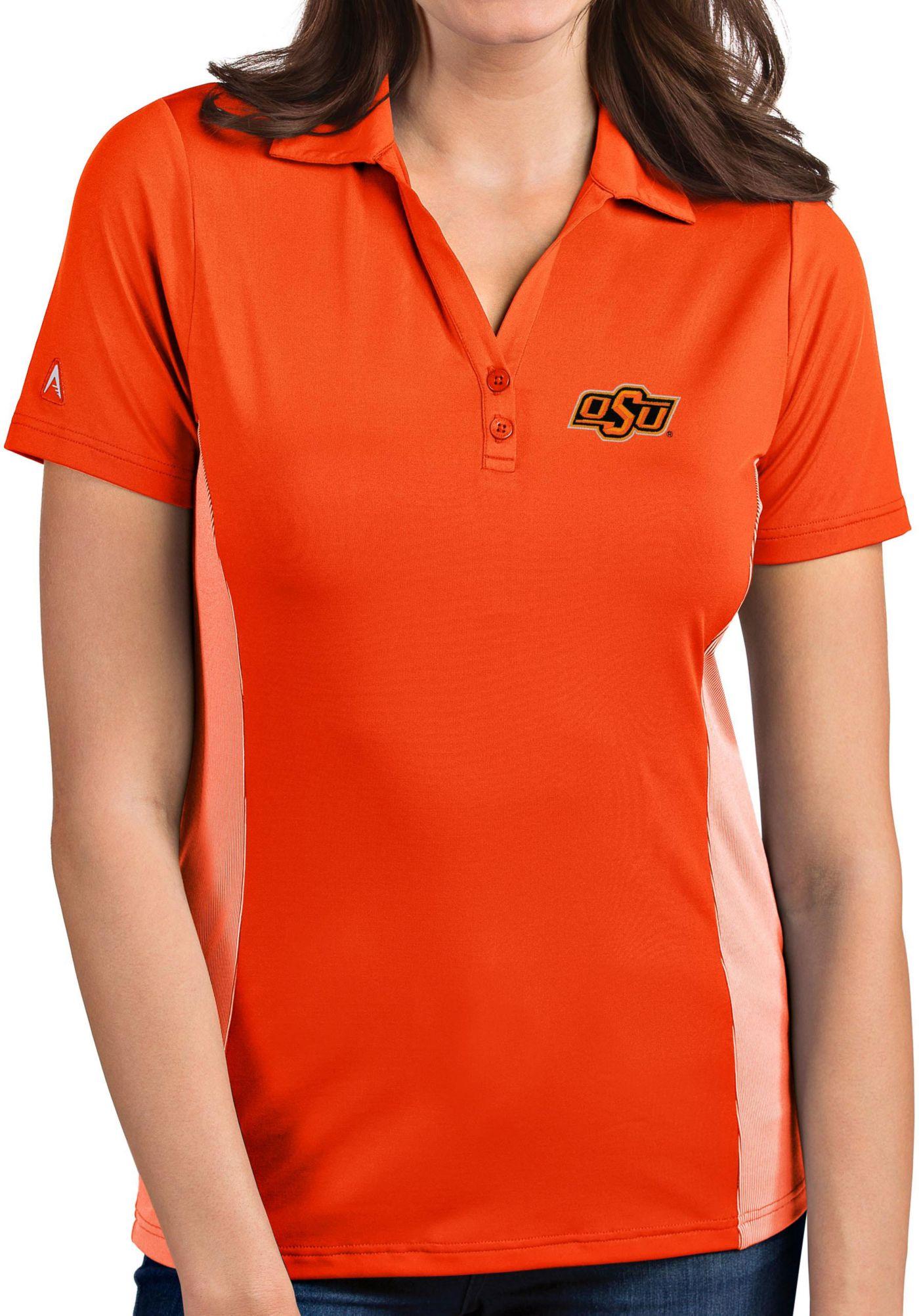 Antigua Women's Oklahoma State Cowboys Orange Venture Polo