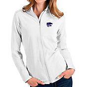 Antigua Women's Kansas State Wildcats Glacier Full-Zip White Jacket
