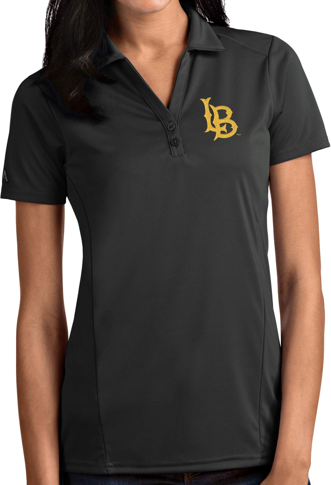 Antigua Women's Long Beach State 49ers Grey Tribute Performance Polo