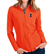 Antigua Women's Illinois Fighting Illini Orange Glacier Full-Zip Jacket