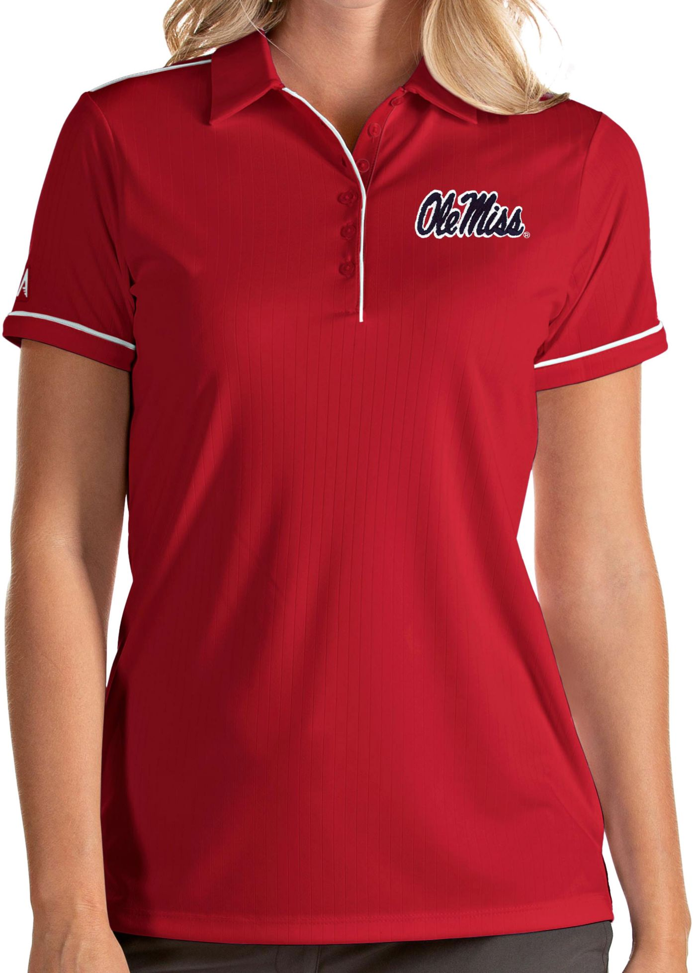 Antigua Women's Ole Miss Rebels Red Salute Performance Polo