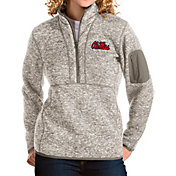 Antigua Women's Ole Miss Rebels Oatmeal Fortune Pullover Jacket