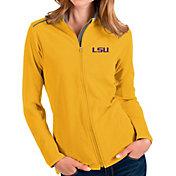 Antigua Women's LSU Tigers Gold Glacier Full-Zip Jacket