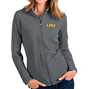 Antigua Women's LSU Tigers Grey Glacier Full-Zip Jacket