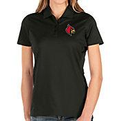 Antigua Women's Louisville Cardinals Balance Black Polo