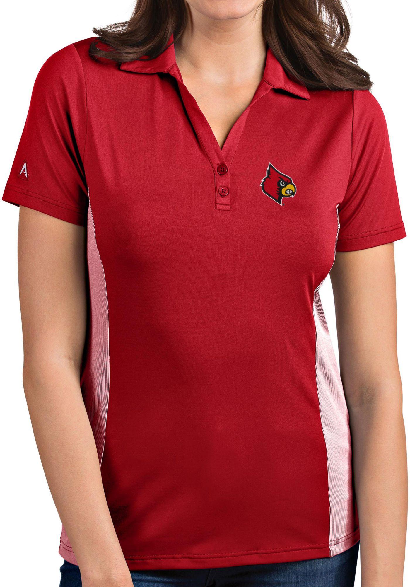 Antigua Women's Louisville Cardinals Cardinal Red Venture Polo