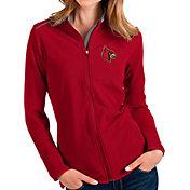 Antigua Women's Louisville Cardinals Cardinal Red Glacier Full-Zip Jacket
