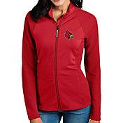 Antigua Women's Louisville Cardinals Cardinal Red Sonar Full-Zip Performance Jacket