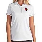 Antigua Women's Louisville Cardinals Salute Performance White Polo