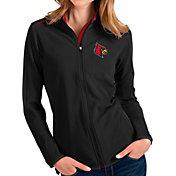 Antigua Women's Louisville Cardinals Glacier Full-Zip Black Jacket