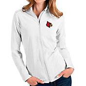 Antigua Women's Louisville Cardinals Glacier Full-Zip White Jacket