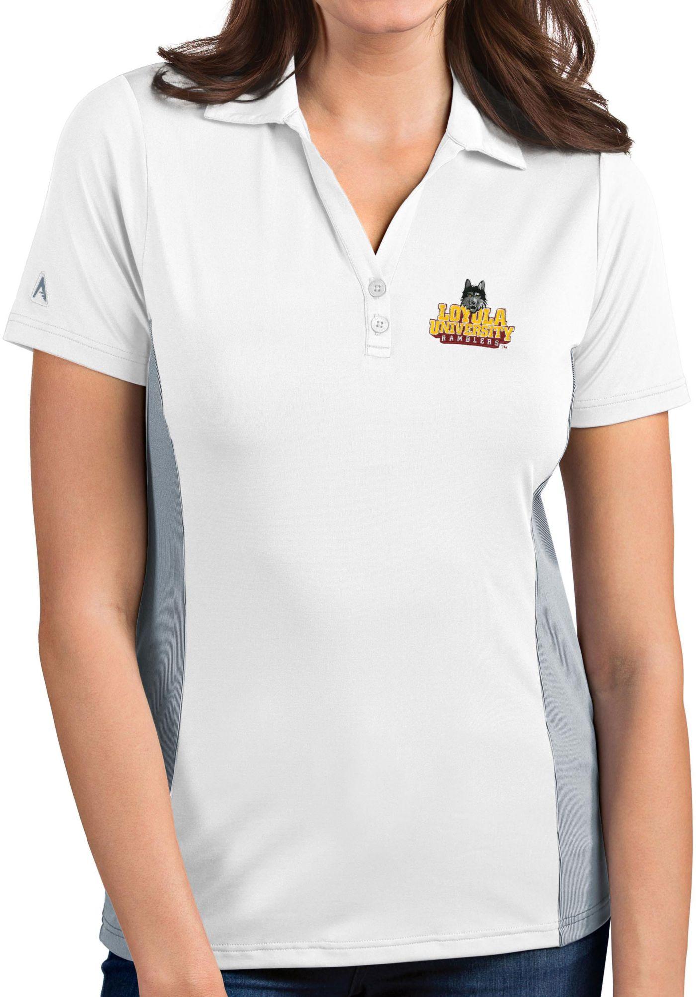 Antigua Women's Loyola - Chicago Ramblers Venture White Polo
