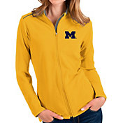 Antigua Women's Michigan Wolverines Gold Glacier Full-Zip Jacket