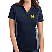 Antigua Women's Michigan Wolverines Blue Venture Polo