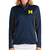 Antigua Women's Michigan Wolverines Blue Passage Full-Zip Jacket