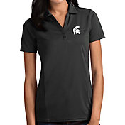 Antigua Women's Michigan State Spartans Grey Tribute Performance Polo