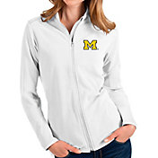 Antigua Women's Michigan Wolverines Glacier Full-Zip White Jacket